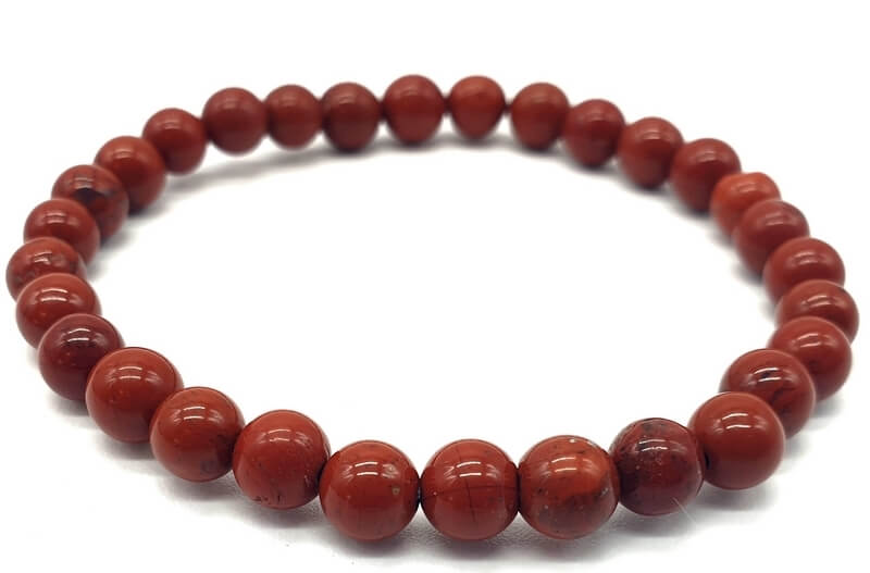 Bracciale Diaspro Rosso perline 6mm