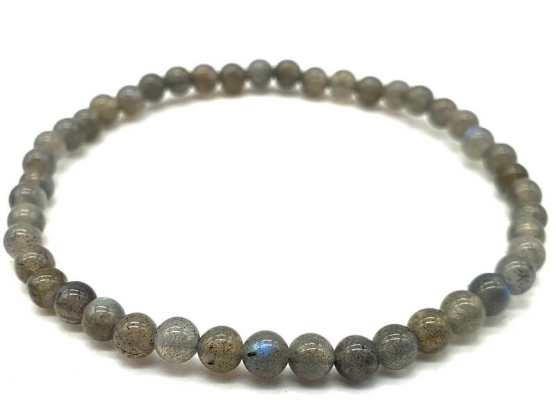 Bracelet 'Blue Light' Labradorite perles 4mm