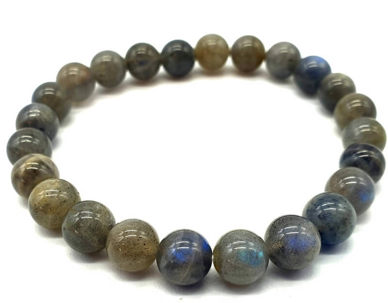 Bracelet ''Blue Light'' Labradorite perles 8mm