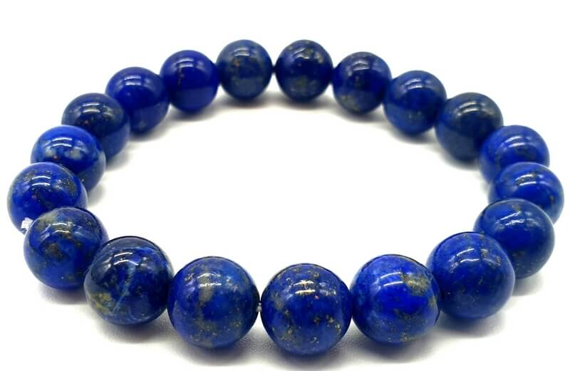 Bracelet Lapis Lazuli naturel 'A' perles 10mm