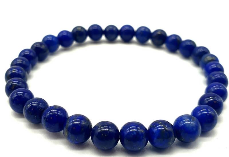 Bracelet Lapis Lazuli 'A' Naturel perles 6mm