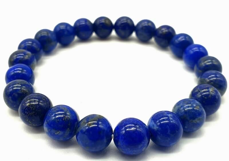 Bracciale Lapislazzuli naturale 'A' perle 8mm