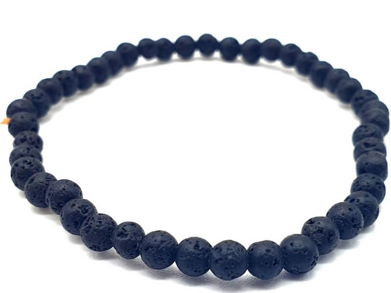 Bracelet Pierre de Lave perles 4mm
