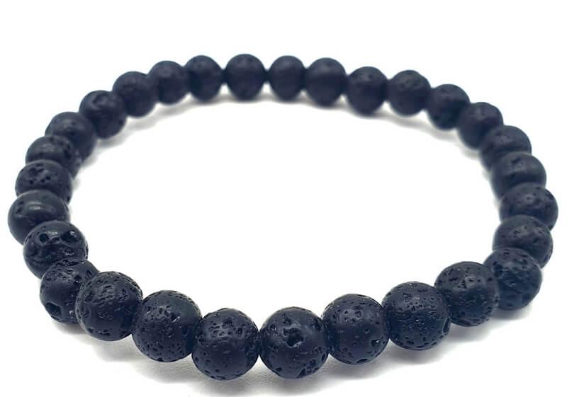 Bracelet Pierre de Lave perles 6mm