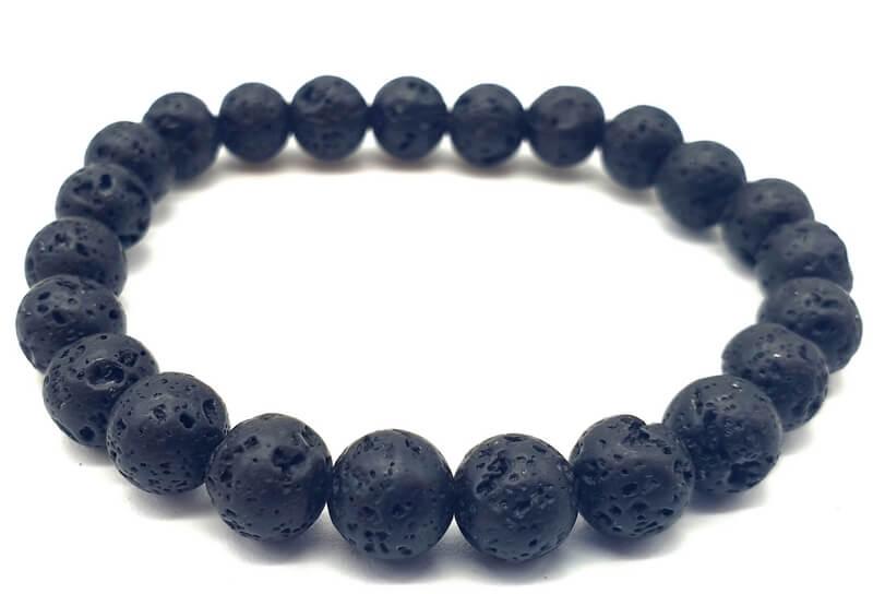Bracciale Pietra di Lava perle 8mm