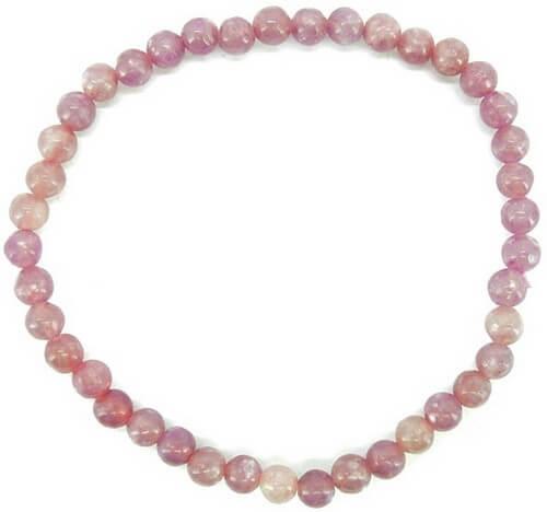 Bracelet Lepidolite perles 4mm