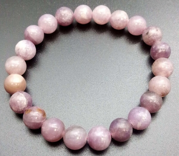 Bracelet Lépidolite perles 8mm