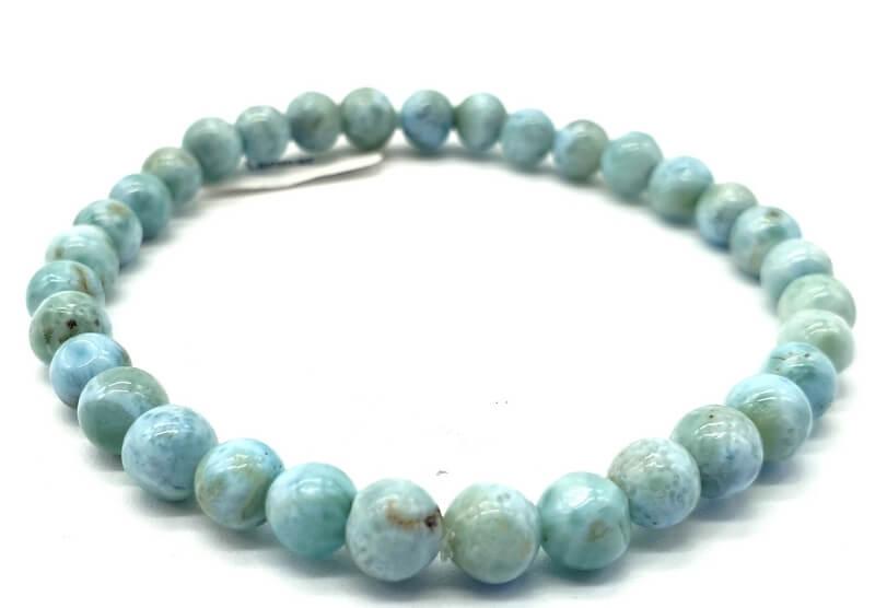 Bracelet Larimar perles 6mm