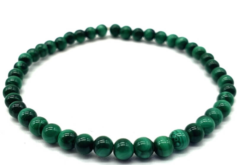 Bracelet 'Light Green' Malachite perles 4mm