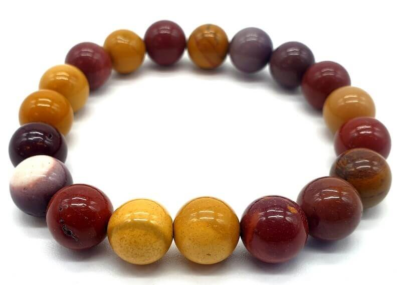 Bracciale Jasper Mokaïte perle 10mm