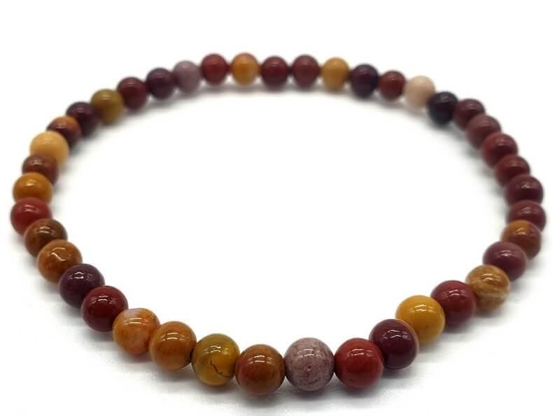 Bracelet Jaspe Mokaïte perles 4mm