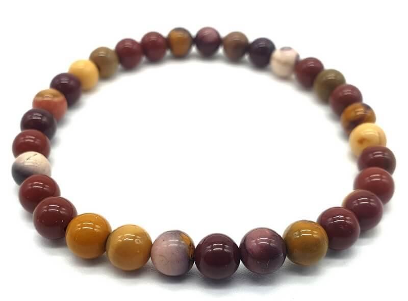 Bracelet Jaspe Mokaïte perles 6mm