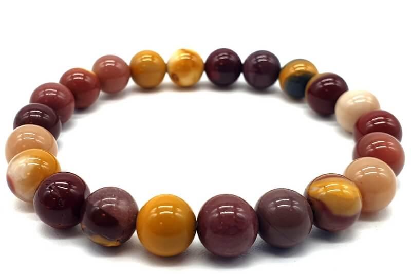 Bracelet Jaspe Mokaïte perles 8mm