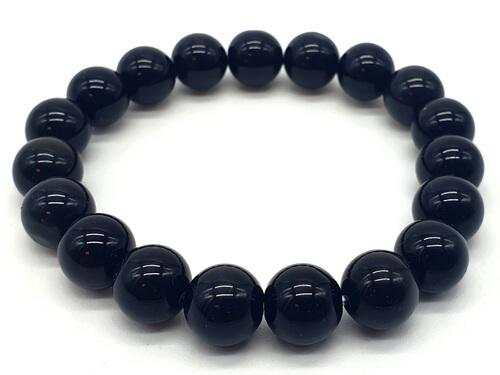 Bracelet Onyx Noir perles 10mm