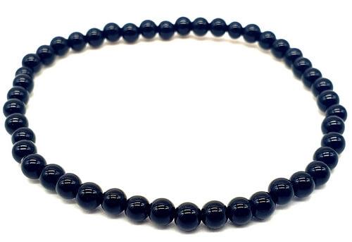 Bracelet Onyx Noir perles 4mm