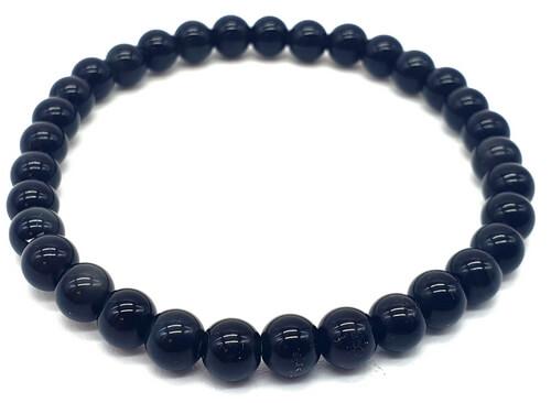 Bracelet Onyx Noir perles 6mm