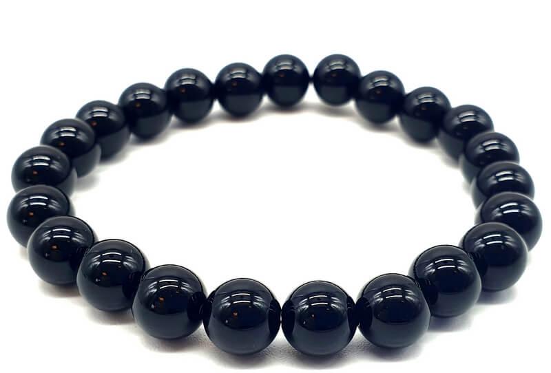 Bracelet Onyx Noir perles 8mm