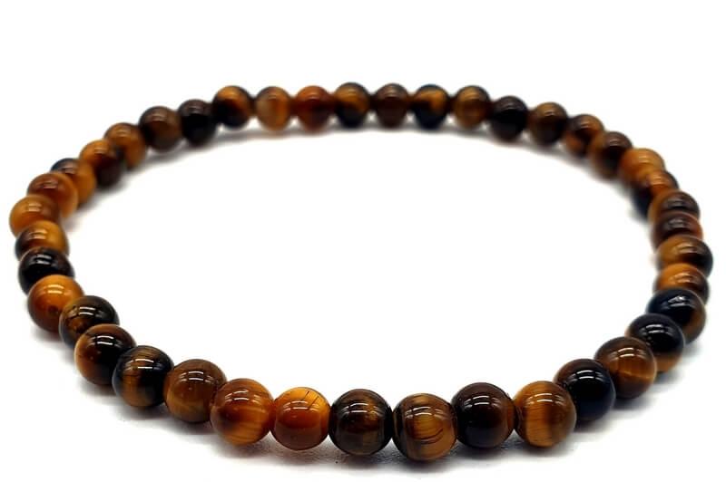 Bracelet Oeil de Tigre perles 4mm