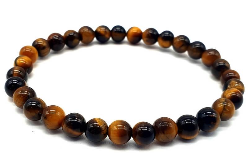 Bracelet Oeil de Tigre perles 6mm