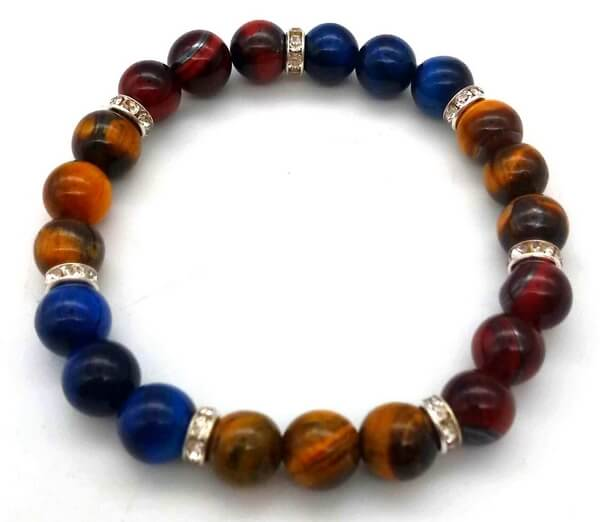 Bracelet Protection 3-mix 3 Oeils perles 8mm