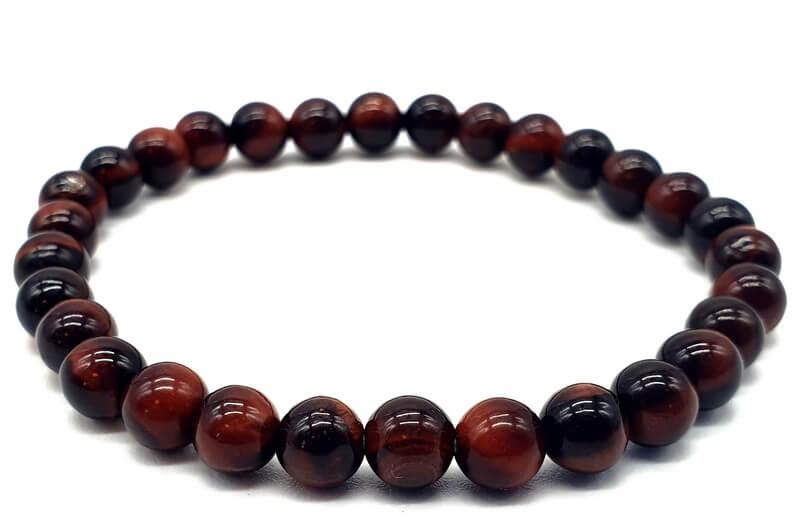 Bracelet Oeil de Taureau perles 6mm