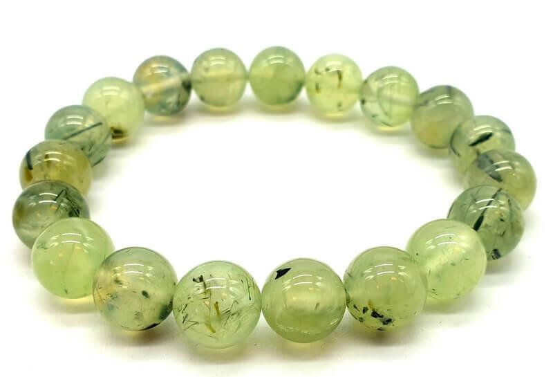 Bracelet Prehnite perles 10mm