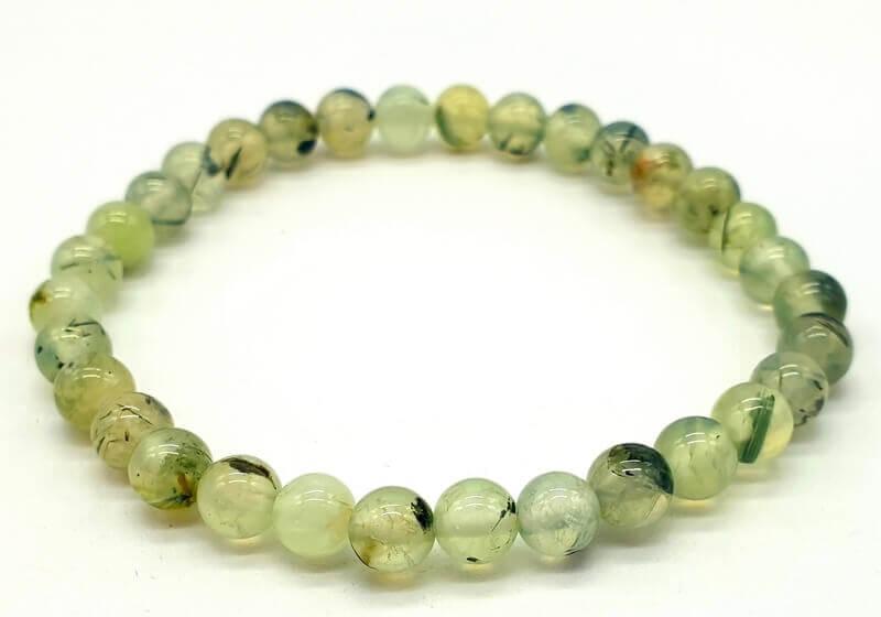 Bracelet Prehnite perles 6mm