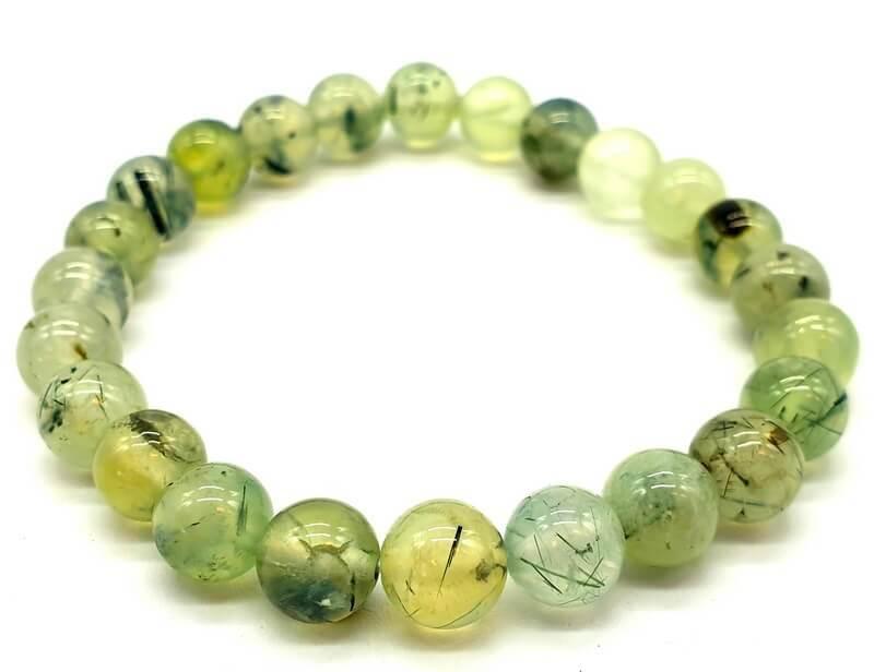 Bracelet Prehnite perles 8mm