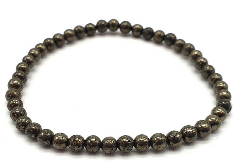 Bracelet Pyrite perles 4mm