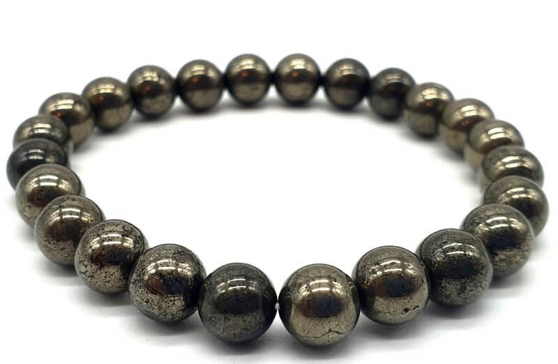 Bracciale Pirite perle 8mm