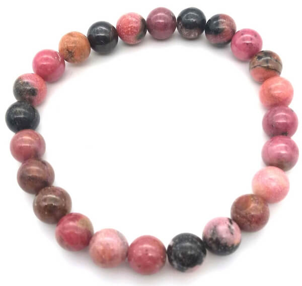 Bracelet Rhodonite perles 8mm