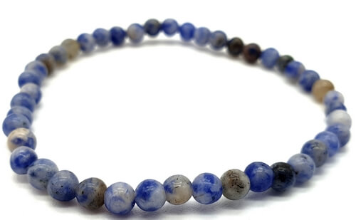 Bracciale Sodalite perles 4mm