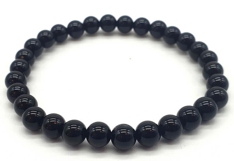 Bracelet Tourmaline Noire perles 6mm