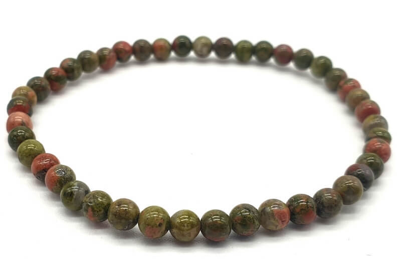 Bracelet Unakite perles 4mm