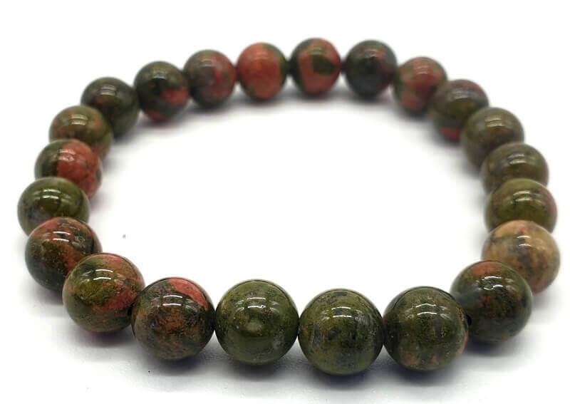 Bracelet Unakite perles 8mm