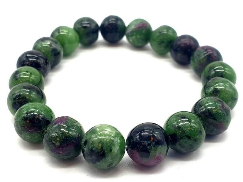 Bracciale rubino perle Zoiteite 10mm