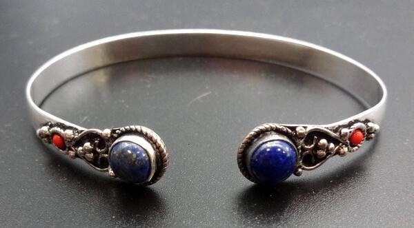 Bracelet Lapis Lazuli plaqué Argent