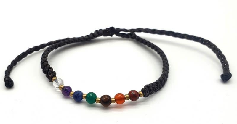 Bracelet 7 Chakras Cordon