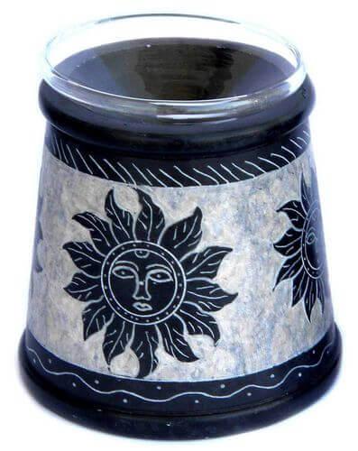 Quemador Aceite Piedra Sol 10cm