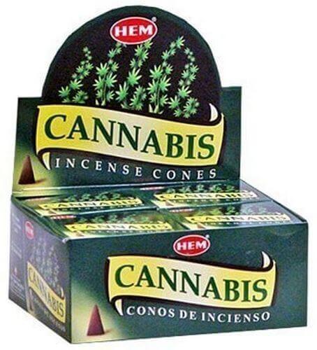 Encens HEM Cônes Cannabis