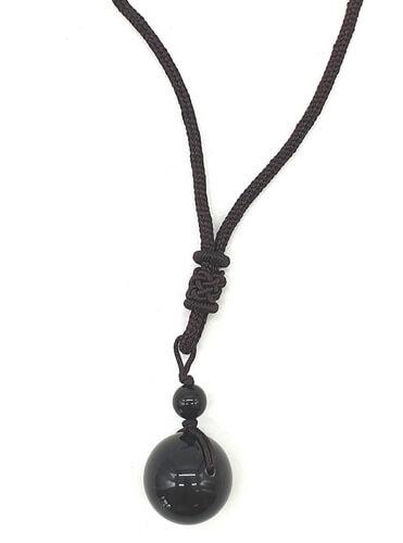 Collier Obsidienne Arc-en-Ciel extra 16mm