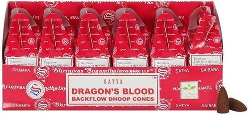 Backflow Cônes Satya Sang de Dragon 6pcs