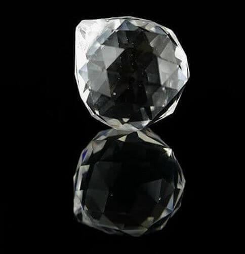 Sfera di cristallo sfaccettato Feng-Shui 2cm
