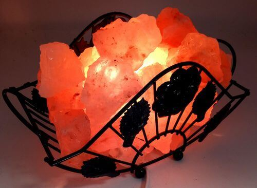 Lampada al sale dell'Himalaya Cestino 3KG