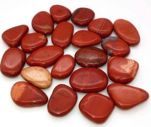 Jaspe rojo laminado guijarros 250g
