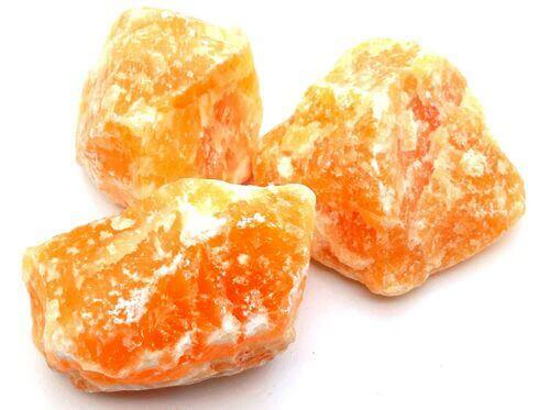 Calcite Orange 'A' brute 1KG