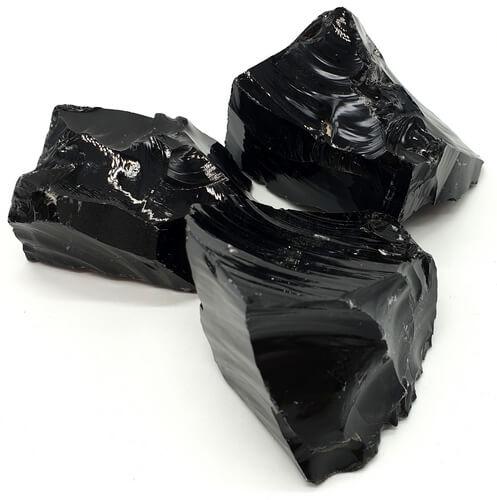 Obsidienne Noire brute 1KG