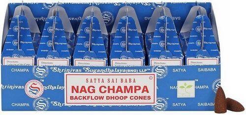 Backflow Cônes Satya Nag Champa 6pcs