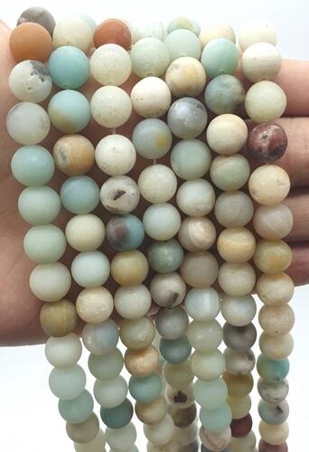 Perline di amazzonite 10 mm su un filo di 40 cm