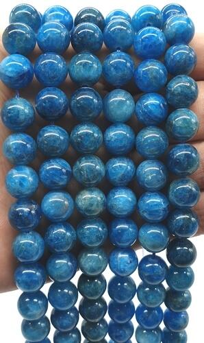 Perles Apatite Extra 10mm sur fil 40cm